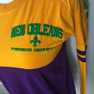 Classic Tops - Mardi Gras tee in traditional colors of NOLA. Sz S